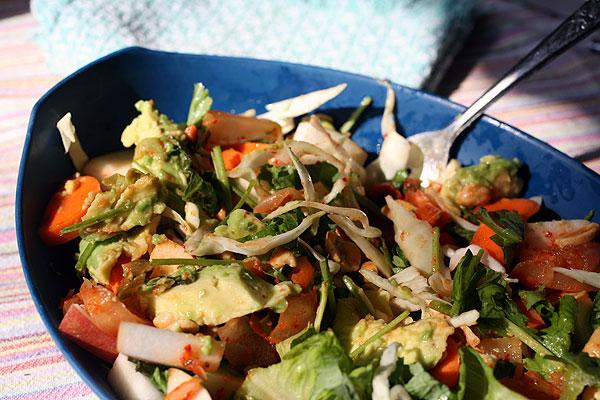 Post image for Kimchi Apple Salad