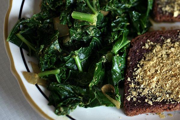 Lemon Kale and Garlic Toast
