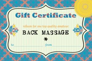 back massage gift card