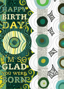 happy birthday notecard