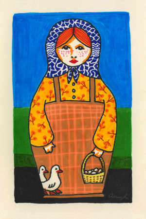 Appalachian matryoshka doll drawing