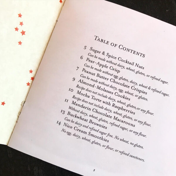 Special Treats table of contents