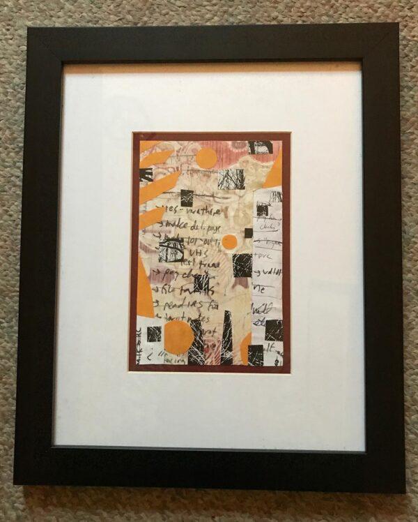 Big To Do collage framed