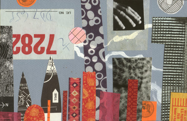 City Life - found paper collage
