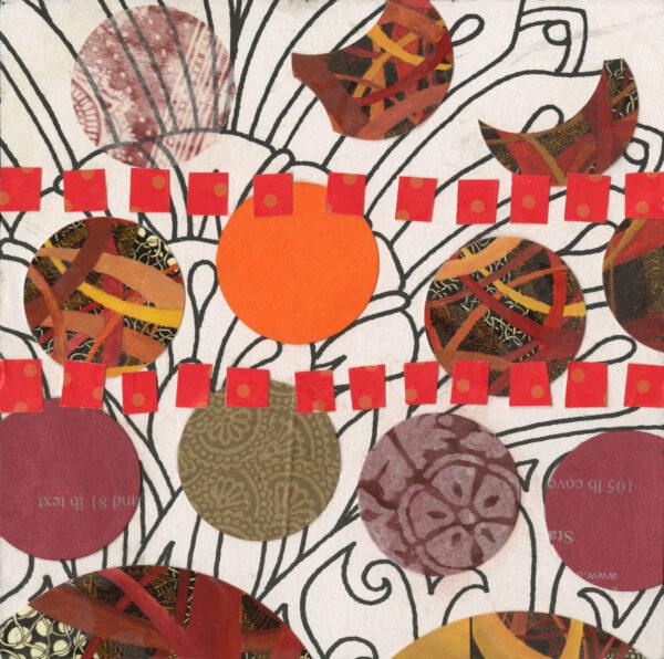 Garden Blooms - found paper collage