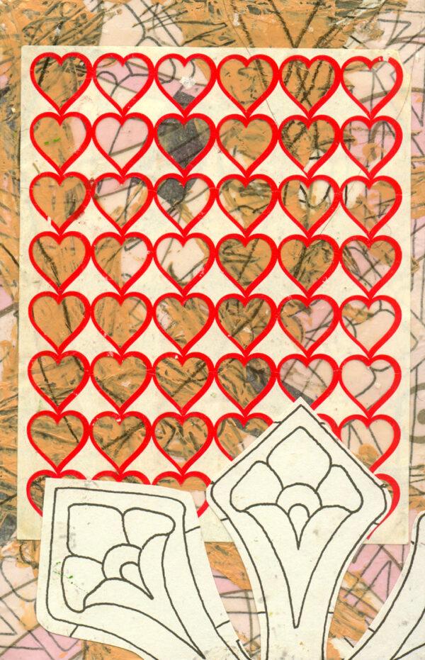 Heartfelt — salvaged paper collage