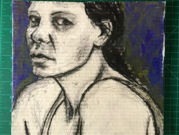 drawing, chalk and pastel on cardboard